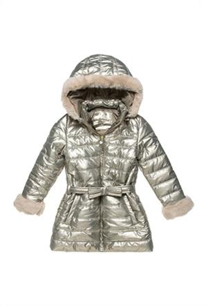 Alouette παιδικό μπουφάν αδιάβροχο με κουκούλα και ζώνη (6-16 ετών)