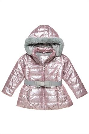 Alouette παιδικό μπουφάν με κουκούλα και ζώνη με φιόγκο (9 μηνών-5 ετών)
