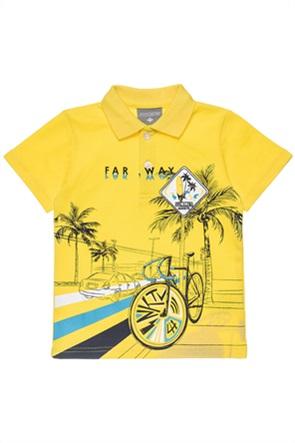 Alouette παιδική πόλο μπλούζα με print (6-14 ετών)