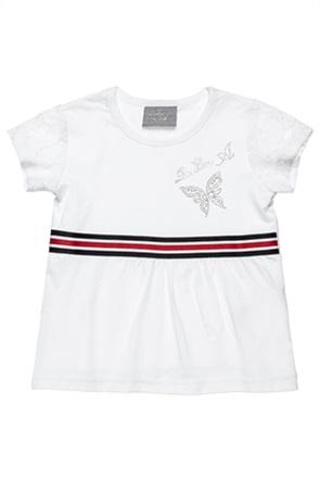 Alouette παιδική μπλούζα με στρας και δαντέλα (18 μηνών-5 ετών)