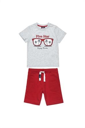 "Alouette παιδικό σετ ρούχων T-shirt με foil print και βερμούδα ""Five Star""  (9 μηνών-5 ετών)"