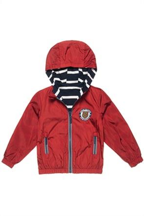 Alouette παιδικό μπουφάν με κουκούλα διπλής όψης αδιάβροχο (6μηνλων-5 ετών)