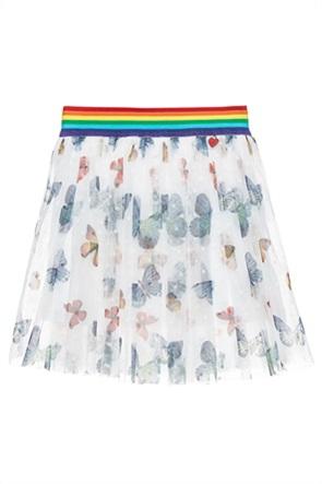 Alouette παιδική φούστα με all-over butterfly print και τούλι (2-5 ετών)