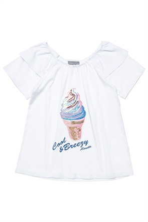 Alouette παιδική μπλούζα με παγιέτες και letter print (6-14 ετών)
