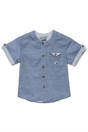 Alouette παιδικό τζην πουκάμισο με μαο γιακά (12 μηνών-5 χρονών)