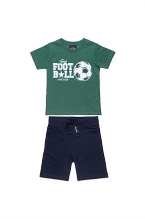 "Alouette παιδικό σετ ρούχων T-shirt και βερμούδα με graphic print ""Five Star"" (12 μηνών-5 ετών)"