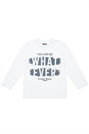 "Alouette παιδική μπλούζα με ανάγλυφο print ""What Ever"" (6-16 ετών)"