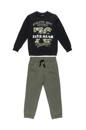 "Alouette παιδικό σετ ρούχων μπλούζα φούτερ με graphic print και παντελόνι φόρμας ""Five Star"" (6-16 ετών)"