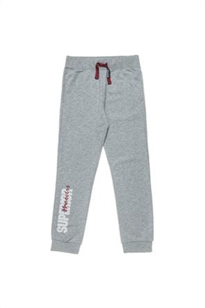 "Alouette παιδικό παντελόνι φόρμας με letter print ""Moovers"" (6-16 ετών)"