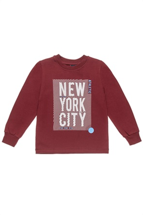 """Αlouette παιδική μπλούζα φούτερ με print """"New York City"""" (2-5 ετών)"""