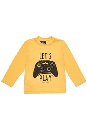 """Αlouette παιδική μπλούζα με print """"Let's play""""(12 μηνών-5 ετών)"""