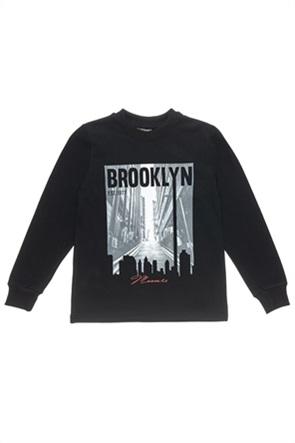 """Αlouette παιδική μπλούζα φούτερ με print """"Brooklyn"""" (6-16 ετών)"""