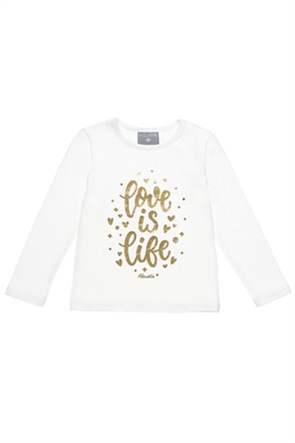 "Alouette βρεφική μπλούζα με print ""Love is life"" (12 μηνών-5 ετών)"