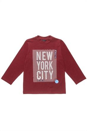 """Αlouette παιδική μπλούζα με print """"New York City"""" (6-16 ετών)"""