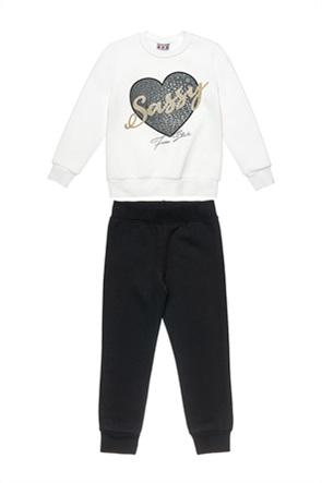 "Alouette παιδικό σετ ρούχων μπλούζα φούτερ και παντελόνι φόρμας ""Five Star"" (6-16 ετών)"
