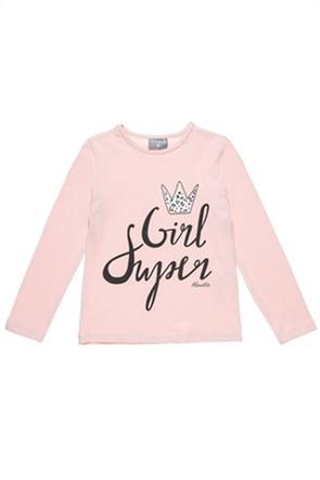 """Alouette παιδική μπλούζα με print """"Super Girl"""" (6-16 ετών)"""