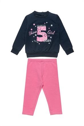 "Alouette παιδικό σετ φόρμας μπλούζα με print ""Shine Girl"" και κολάν (18 μηνών-5 ετών)"
