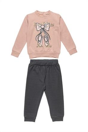 "Alouette παιδικό σετ ρούχων μπλούζα φούτερ με ballet print και παντελόνι ""Five Star"" (12 μηνών-5 ετών)"
