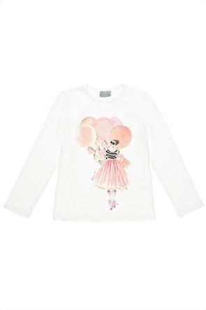 Alouette παιδική μπλούζα με ballet dancer print (6-16 ετών)