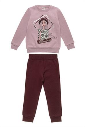 "Alouette παιδικό σετ ρούχων μπλούζα φούτερ και παντελόνι  ""Five Star"" (6-14 ετών)"