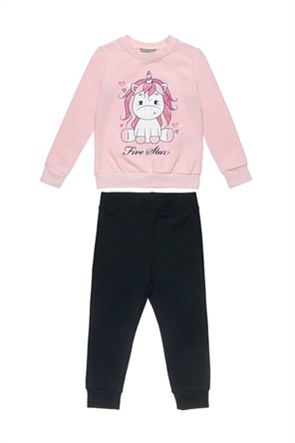 Alouette παιδικό σετ ρούχων μπλούζα φούτερ με unicorn print και παντελόνι φόρμας (18 μηνών-5 ετών)
