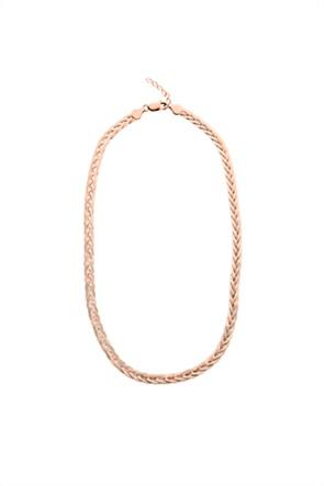 Li - LA - LO γυναικείο κολιέ Skin από ροζ επιχρυσωμένο ασήμι 925°