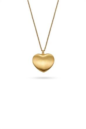 Li - LA - LO γυναικείο μενταγιόν Roma Καρδιά large με αλυσίδα από επιχρυσωμένο ασήμι 925°