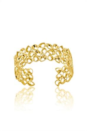 Li - LA - LO γυναικείο βραχιόλι σταθερό από επιχρυσωμένο Ασήμι 925º