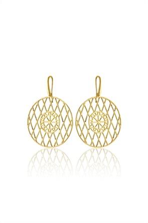 Li - LA - LO γυναικεία σκουλαρίκια Cyclades από επιχρυσωμένο ασήμι 925°
