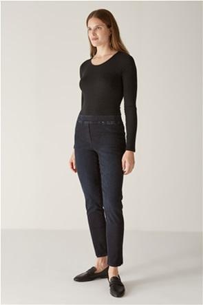 Elena Miro γυναικείo τζην παντελόνι με ελαστική μέση