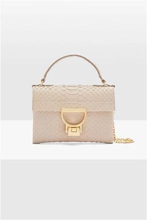 "Coccinelle γυναικεία τσάντα χειρός με ανάγλυφο snake σχέδιο ""Mignon Python"""