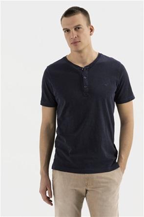 Camel Active ανδρική μπλούζα με στρογγυλή λαιμόκοψη και κεντημένο λογότυπο στο στήθος