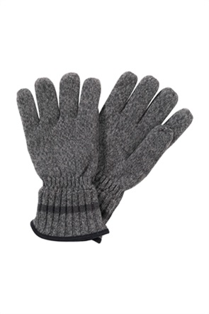 Camel Active ανδρικά γάντια με suede λεπτομέρεια