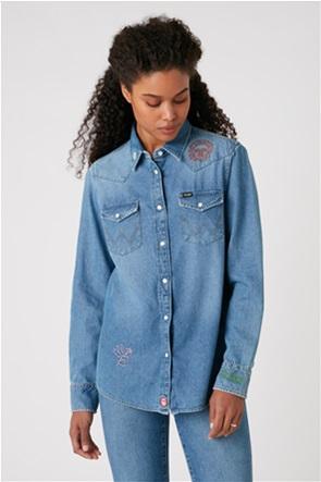 "Wrangler γυναικείο denim πουκάμισο με κέντηματα ""Western"""