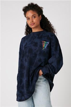 Wrangler γυναικεία oversized μπλούζα φούτερ με logo print