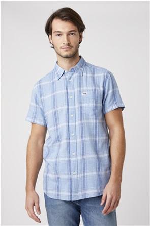 Wrangler ανδρικό καρό πουκάμισο με τσέπη