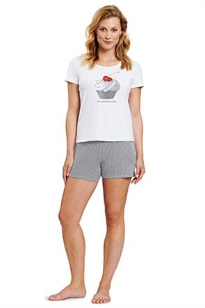 "Rösch γυναικείo T-shirt με cupcake ""sweet & irresistible"" Be Happy!"