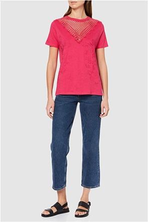 "Desigual γυναικεία μπλούζα με κέντημα ""Tropic Thoughts"""