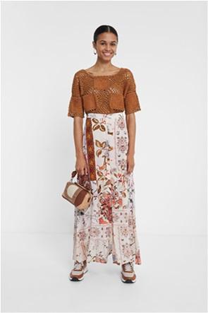 "Desigual γυναικεία maxi φούστα με floral boho print ""Quios"""