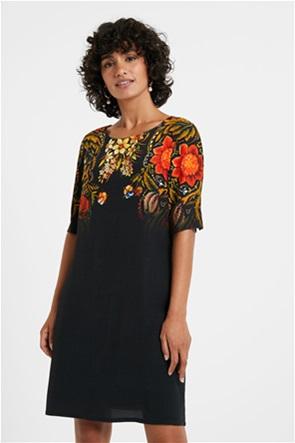 Desigual γυναικείο mini φόρεμα με boho print ''Butterflower''