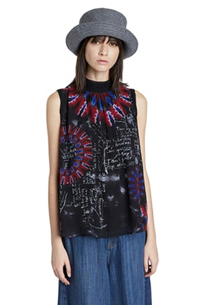 Desigual γυναικεία αμάνικη μπλούζα με print ''Nilo''