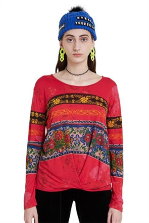 "Desigual γυναικεία μπλούζα floral borders ""Yess"""