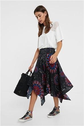 Desigual γυναικεία midi φούστα ασύμμετρη ''Brindisi''