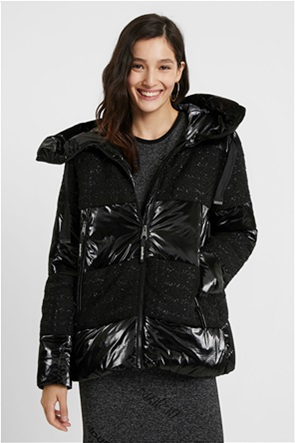 "Desigual γυναικείο μπουφάν με κουκούλα με λεπτομέρειες από ασημοκλωστή ""Alfa"""