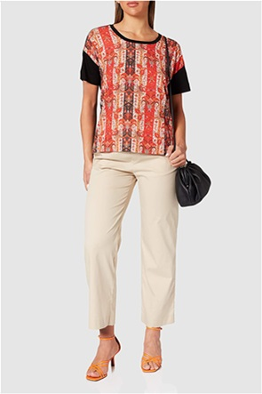 "Desigual γυναικεία μπλούζα με boho print ""Lombok"""