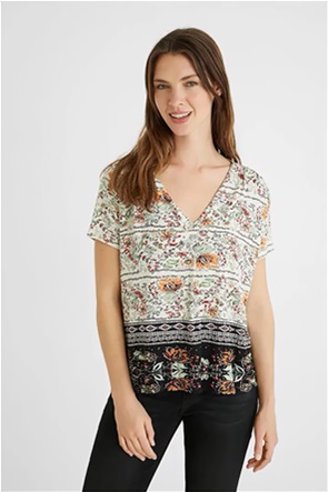Desigual  γυναικεία μπλούζα με all-over print ''Cracovia''