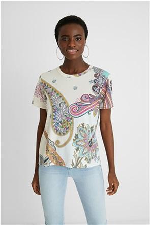 Desigual  γυναικείο T-Shirt με all-over paisley print ''Popasley''