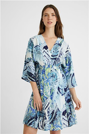 Desigual  γυναικείο mini φόρεμα με all-over print Loose Fit ''Nantes''