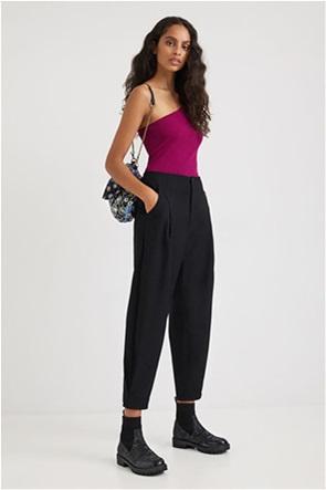 "Desigual γυναικείο παντελόνι cropped με πιέτες ""Kavala"""