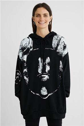 "Desigual γυναικεία μπλούζα φούτερ με κουκούλα ""Big Mickey"""